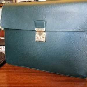Authentic Louis Vuitton Green Epi Briefcase